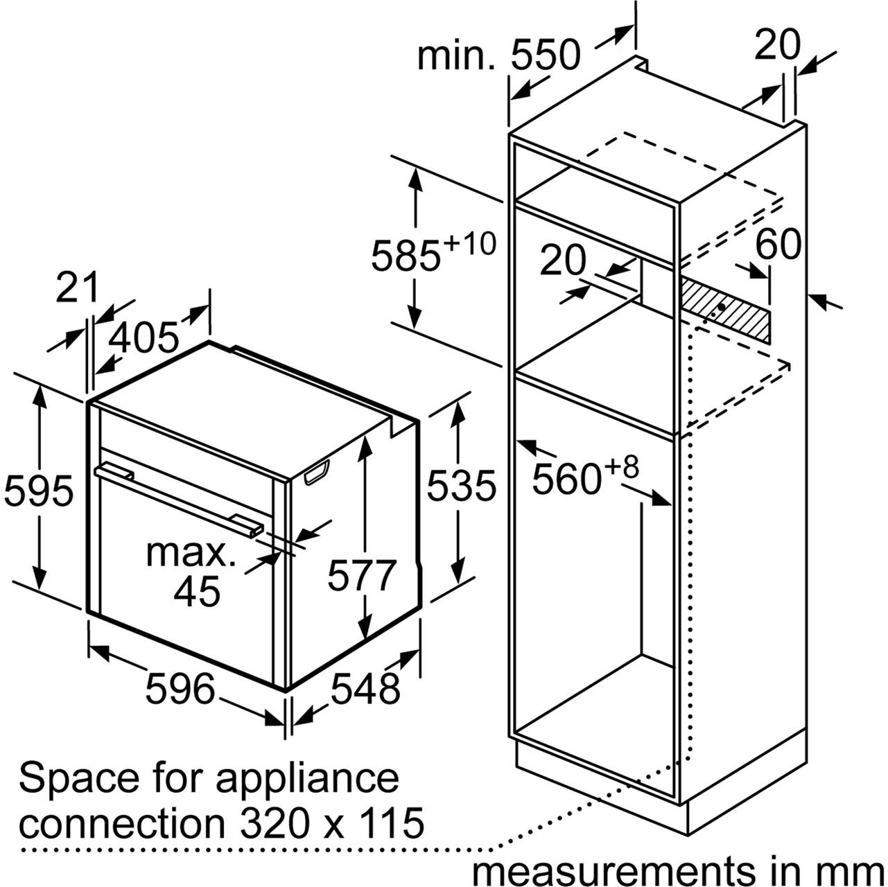 neff b57cr22n0b n70 slide u0026hide built in 60cm electric single oven stainless 635131612435