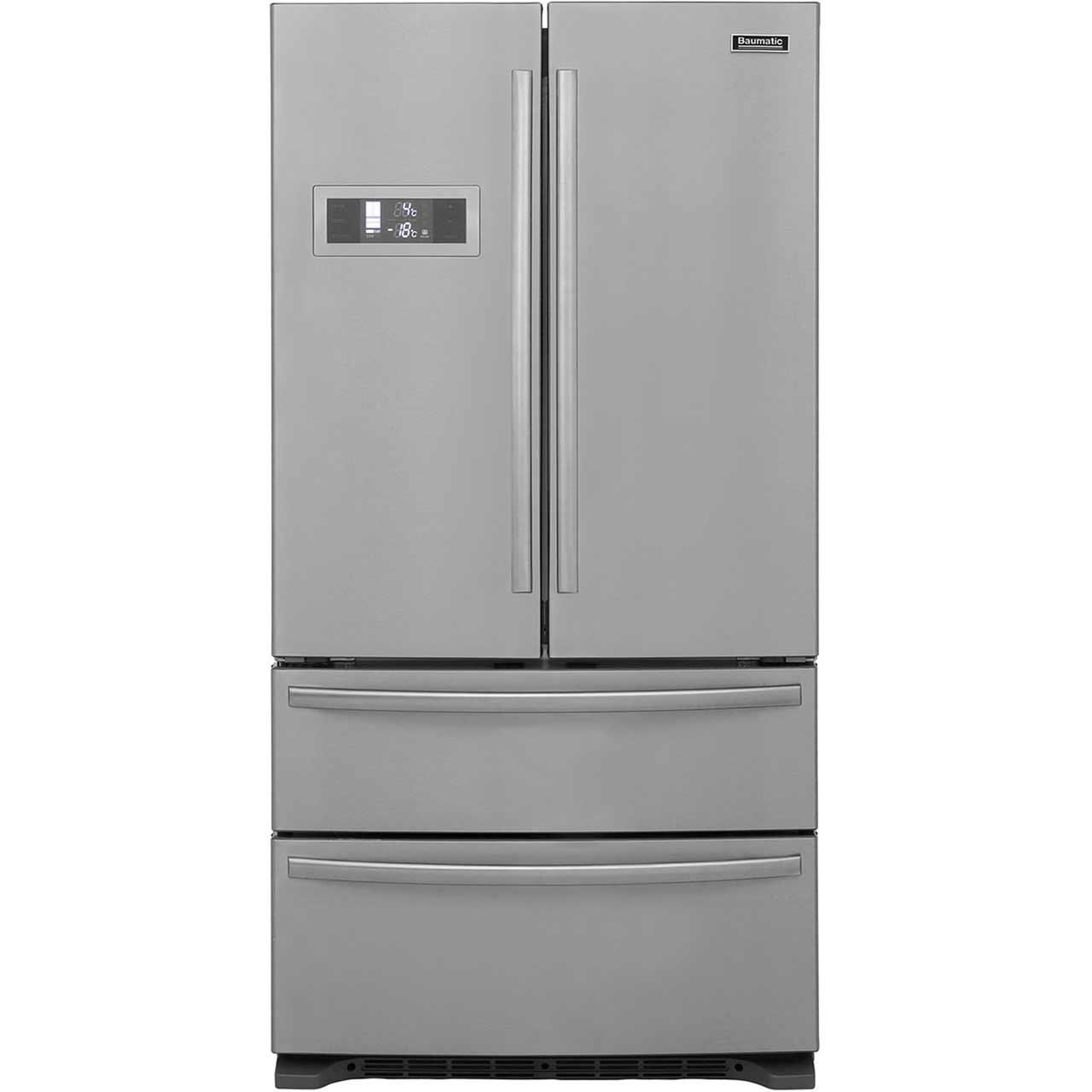 Baumatic B40DSS Free Standing American Fridge Freezer in Stainless Steel