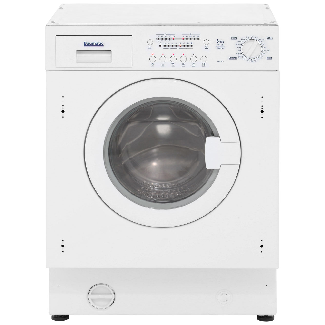 Baumatic BWDI126N Integrated 6Kg / 4Kg Washer Dryer with 1200 rpm