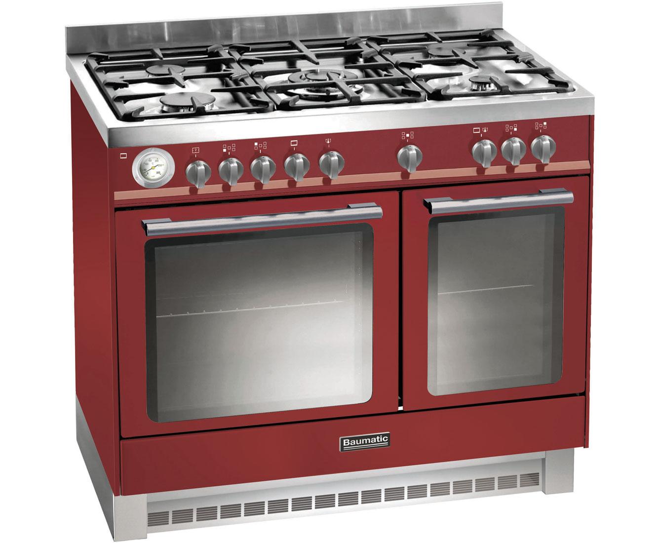 Baumatic BCD925BDY Free Standing Range Cooker in Burgundy