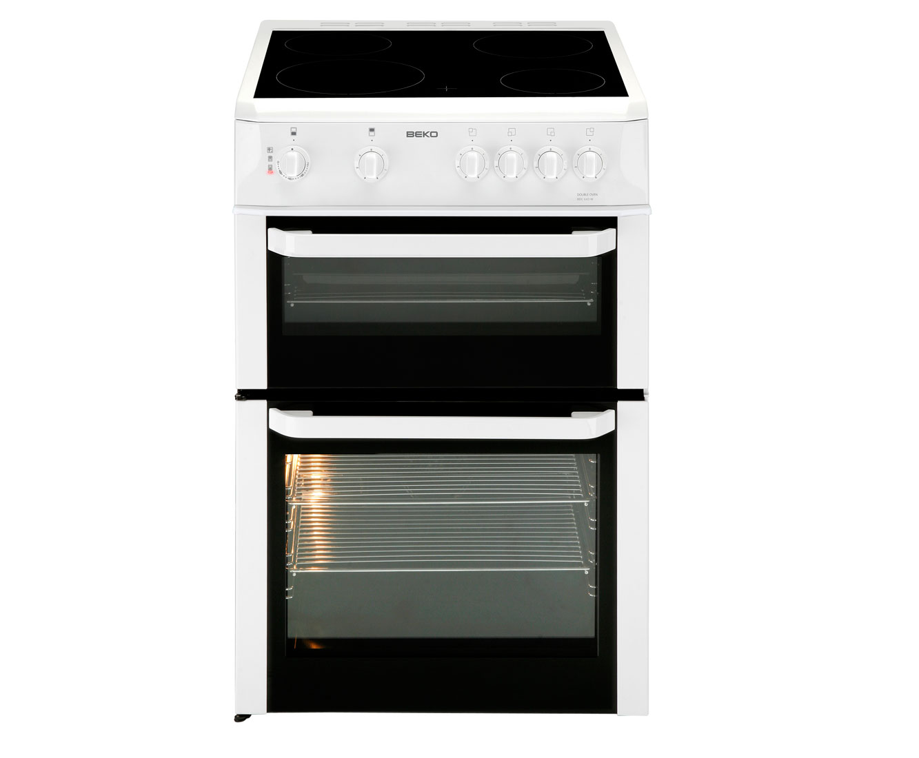 Beko BDC643W Electric Cooker with Ceramic Hob - White