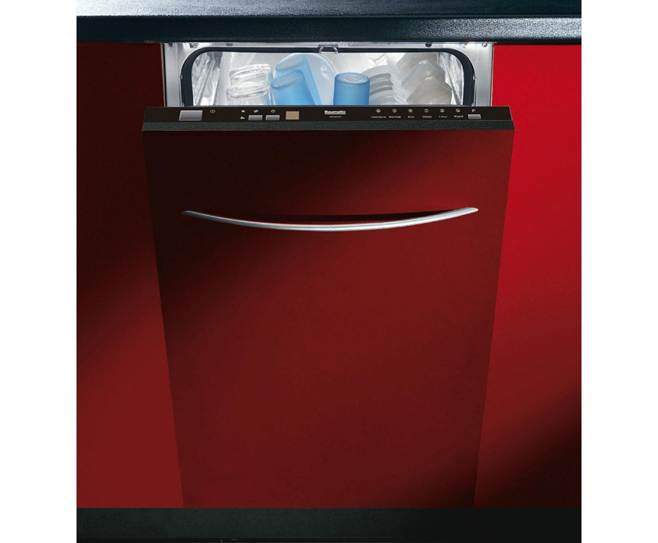 Baumatic BDWI440 Integrated Slimline Dishwasher in Black