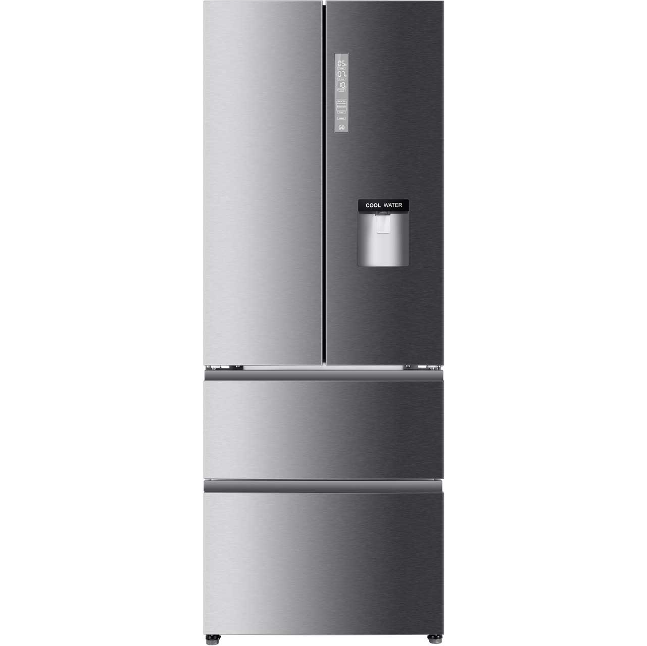 Haier BE3FE742CMJW Free Standing Fridge Freezer Frost Free in Stainless Steel