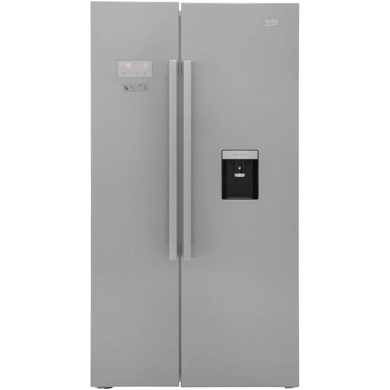 Beko ASD241X Free Standing American Fridge Freezer in Stainless Steel