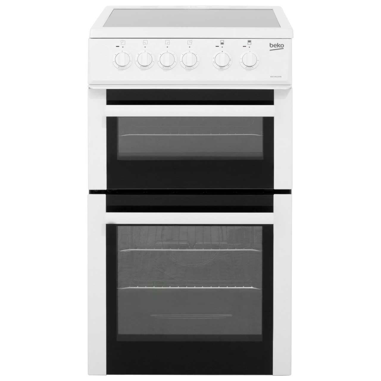 Beko BDC5422AW Electric Cooker with Ceramic Hob - White