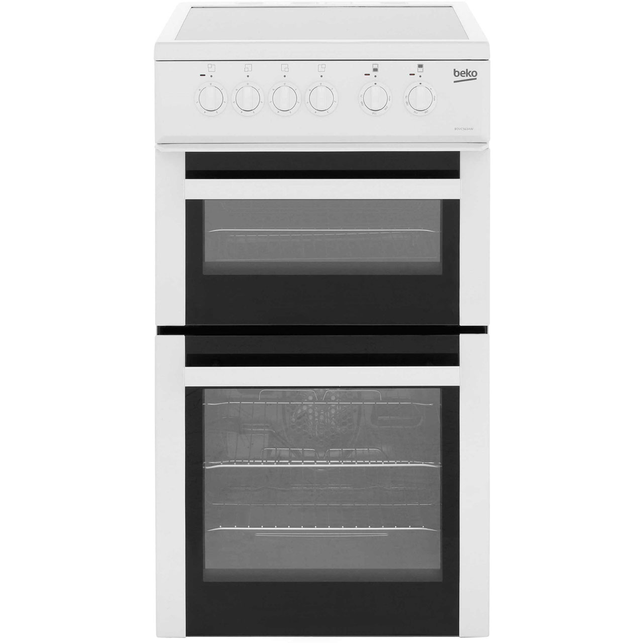 Beko BDVC563AW Electric Cooker with Ceramic Hob - White