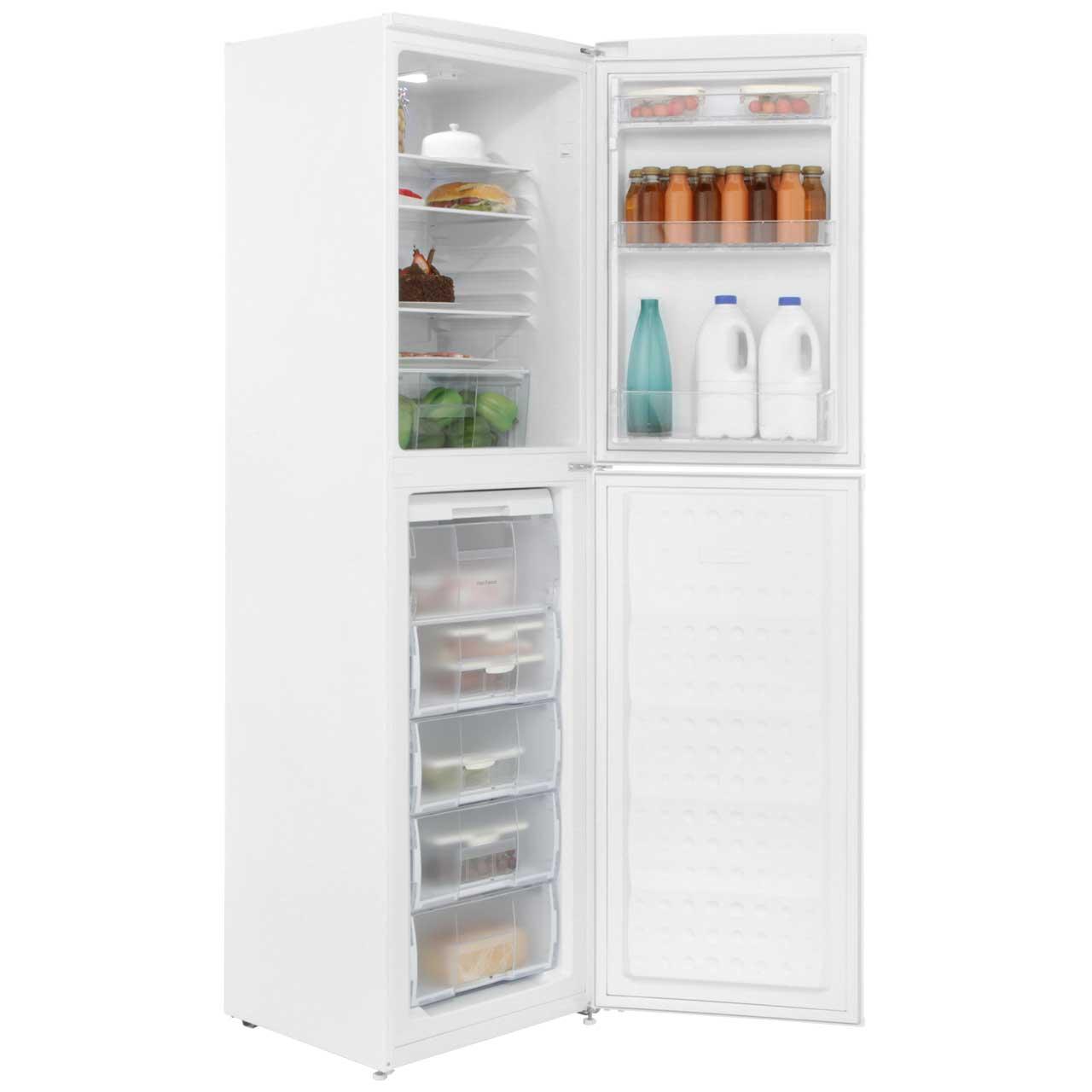 Largest Capacity Refrigerator Beko Cf5015apw 50 50 Frost Free Fridge Freezer White