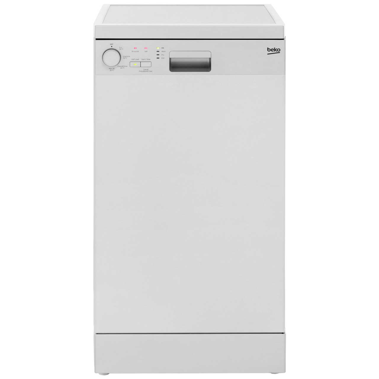 Beko DFS04R10S Free Standing Slimline Dishwasher in Silver