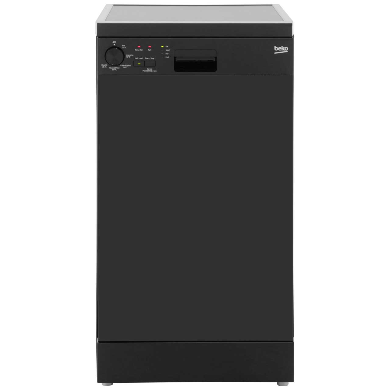 Beko DFS05010B Free Standing Slimline Dishwasher in Black