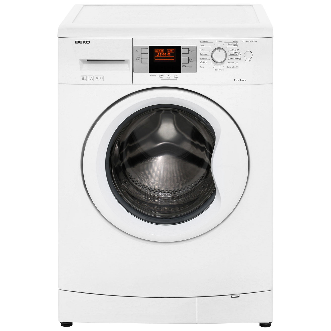 Beko EcoSmart ECOWMB81445LW 8Kg Washing Machine with 1400 rpm - White