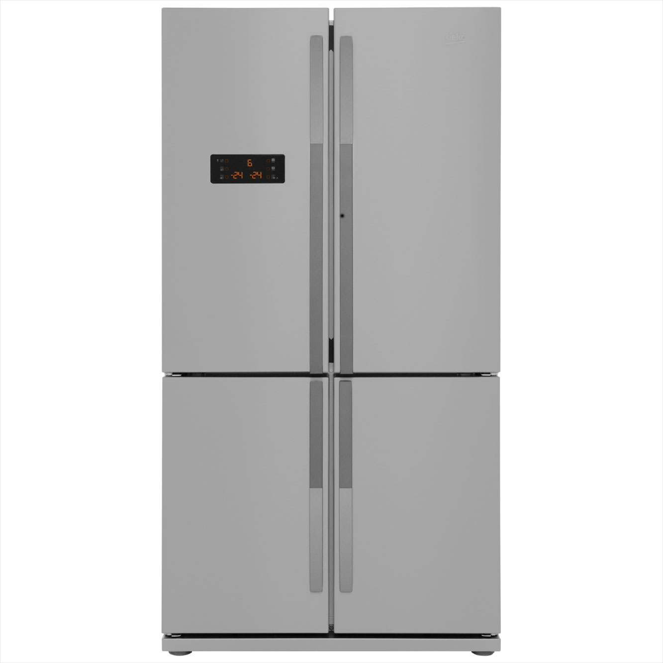 Beko GNE114610APX American Fridge Freezer - Stainless Steel