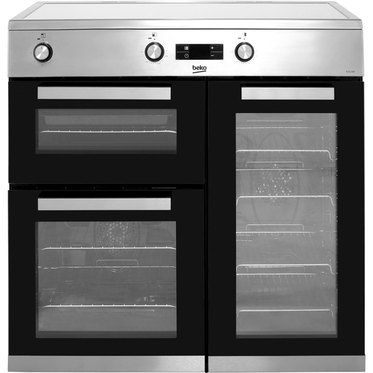 Beko Kdvi90x 90cm Electric Range Cooker With Induction Hob Wiring Zones Kitchen Stainless Steel A Rated