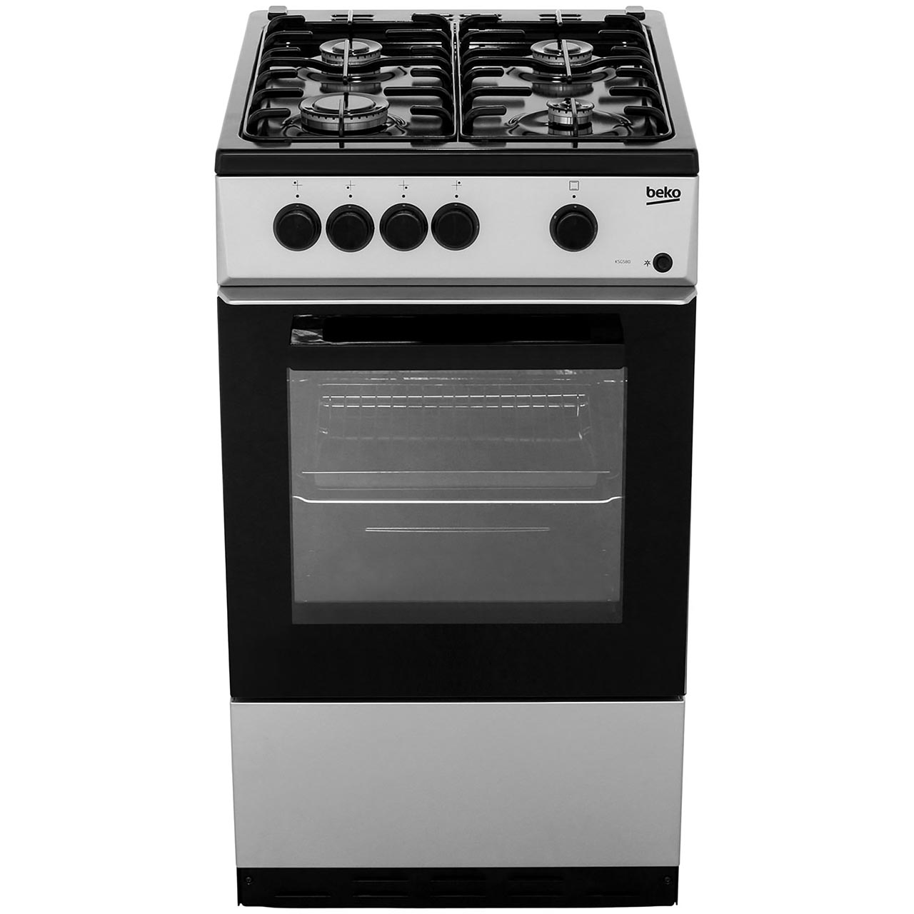 Beko Ksg580s Free Standing A Gas Cooker With Gas Hob 50cm