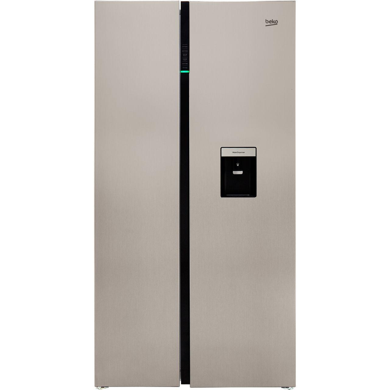 Beko RASGD242PX American Fridge Freezer - Brushed Steel - A+ Rated