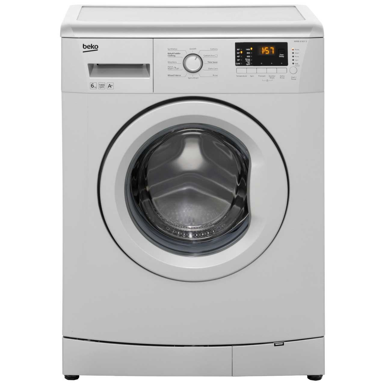 Beko WMB61431S 6Kg Washing Machine with 1400 rpm - Silver