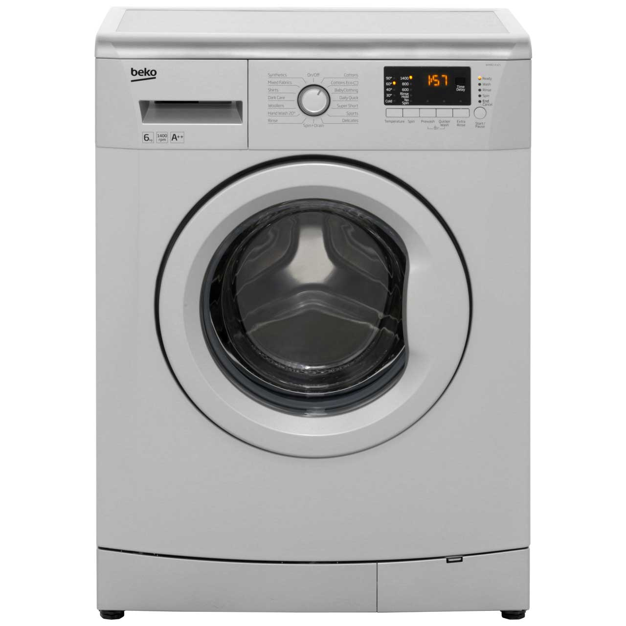 Beko WMB61432S 6Kg Washing Machine with 1400 rpm - Silver