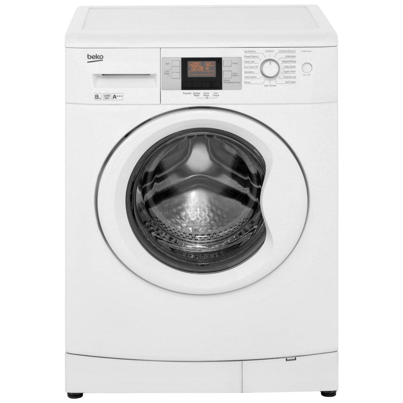 Beko WMB81243LW Free Standing Washing Machine in White