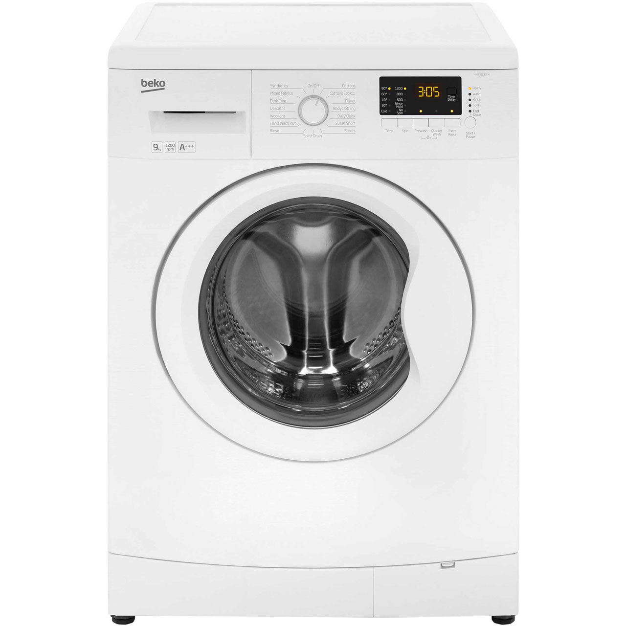 Beko WMB91233LW 9Kg Washing Machine with 1200 rpm - White