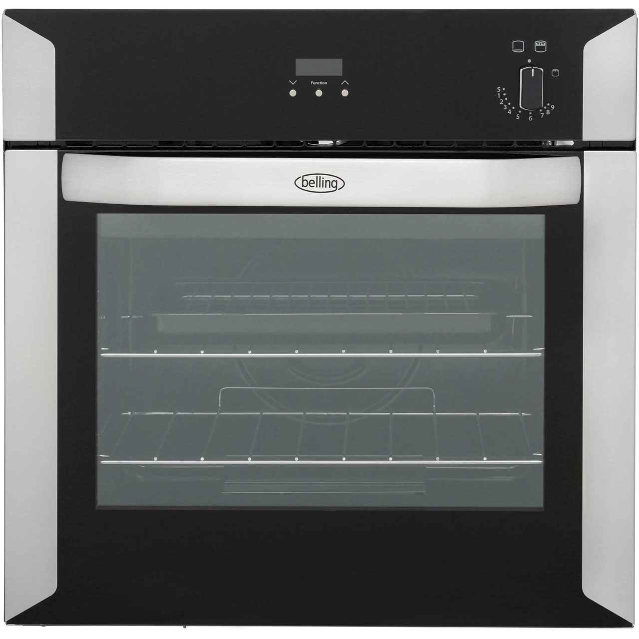 bi60g_ss belling built in gas single oven 48l ao combelling bi60g built in gas single oven stainless steel a rated bi60g_ss
