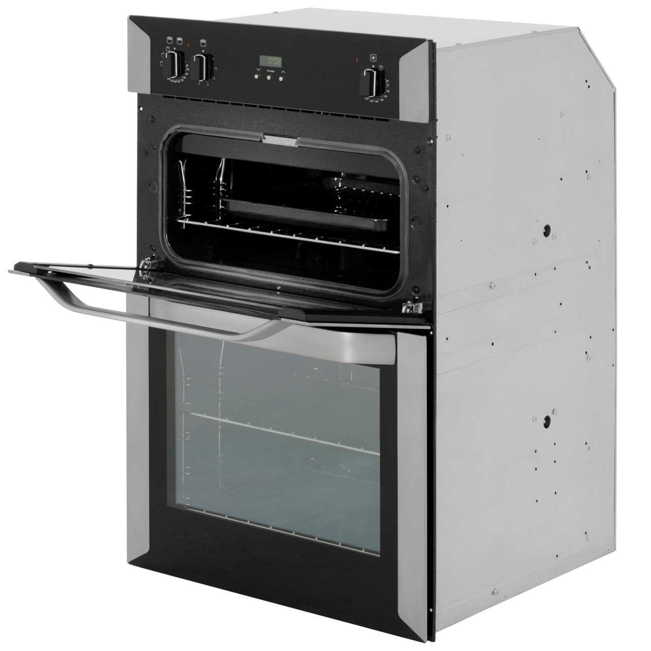 belling bi90fp built in 60cm electric double oven stainless steel new 5034648495909 ebay. Black Bedroom Furniture Sets. Home Design Ideas