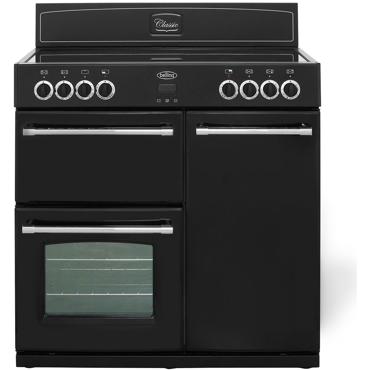 Belling Classic900E 90cm Electric Range Cooker with Ceramic Hob - Black