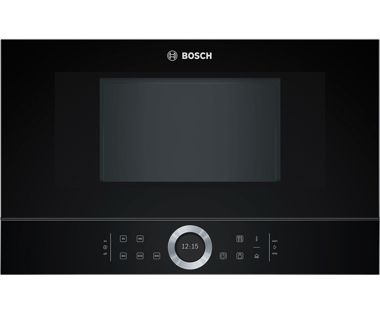 Bosch Serie 8 BFL634GB1B Integrated Microwave Oven in Black