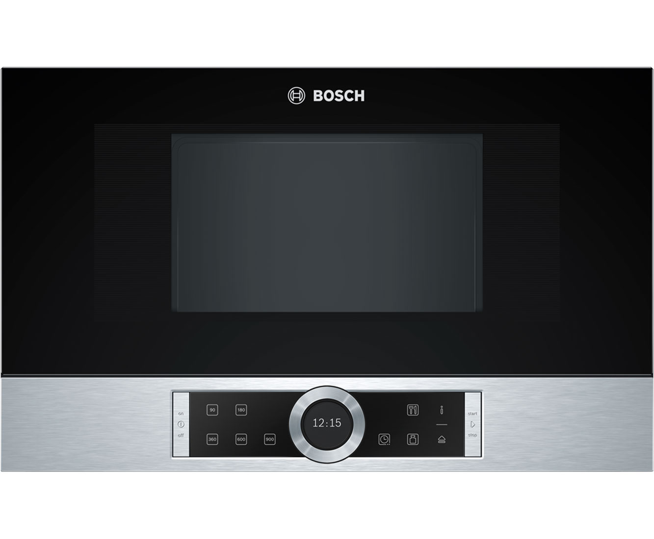 Bosch Serie 8 BFL634GS1B Integrated Microwave Oven in Brushed Steel
