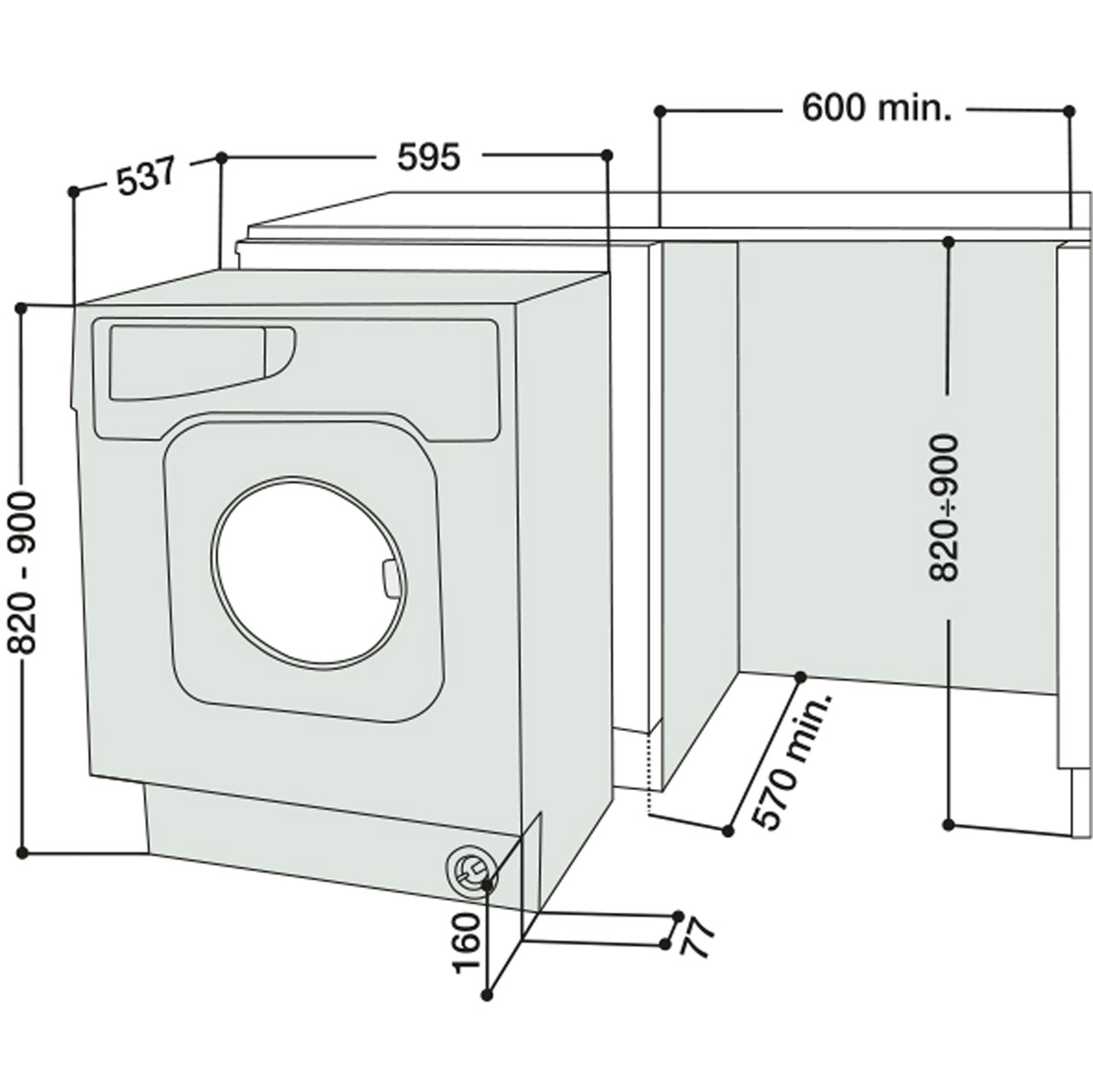 Hotpoint Integrated Washer Dryer | BHWD129 | Ao.com