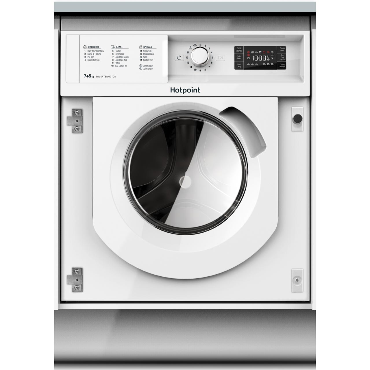 Hotpoint Biwdhg7148 Built In Washer Dryer White