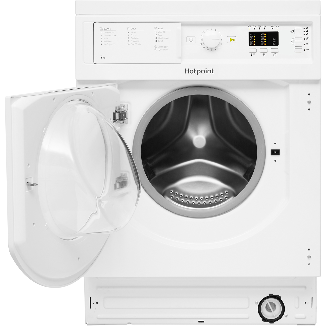 ... Hotpoint BIWDHL7128 Integrated 7Kg / 5Kg Washer Dryer with 1200 rpm - B Rated - BIWDHL7128_WH ...