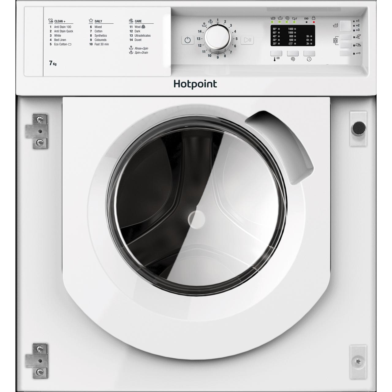 hotpoint biwmhl71453uk built in washing machine white. Black Bedroom Furniture Sets. Home Design Ideas