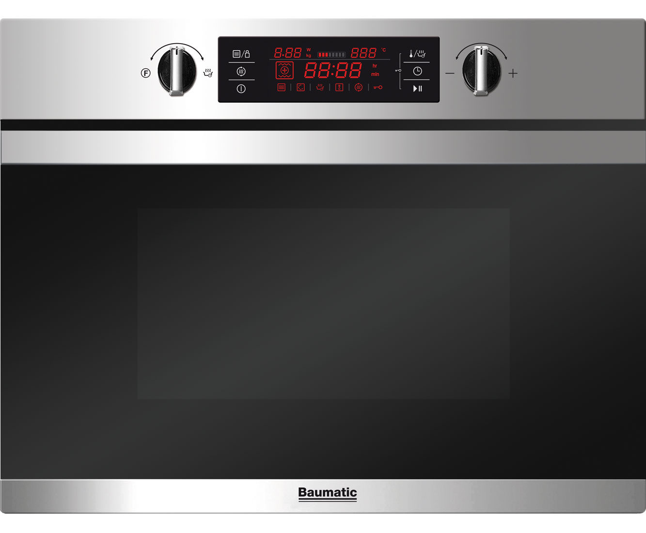 Baumatic BMC450SS Integrated Microwave Oven in Stainless Steel