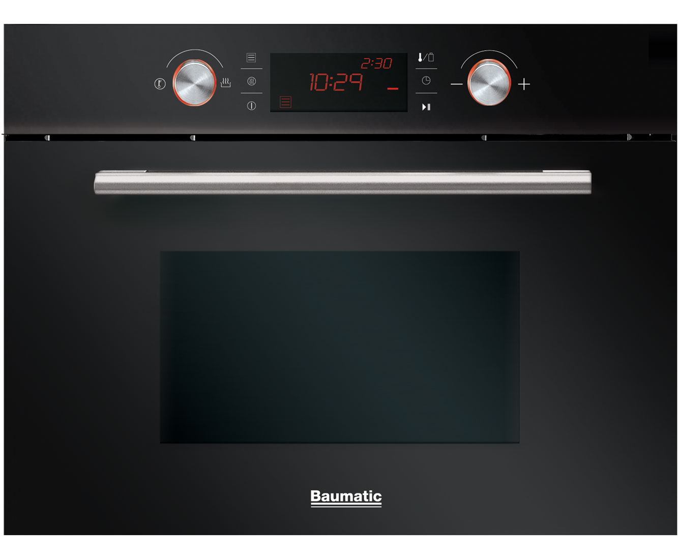 Baumatic BMC460BGL Integrated Microwave Oven in Black