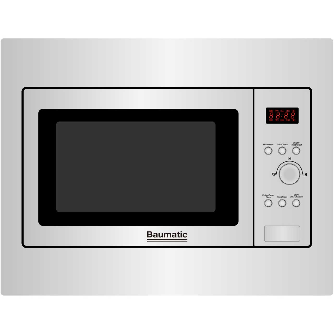 Baumatic BMIC4625 Integrated Microwave Oven in Stainless Steel