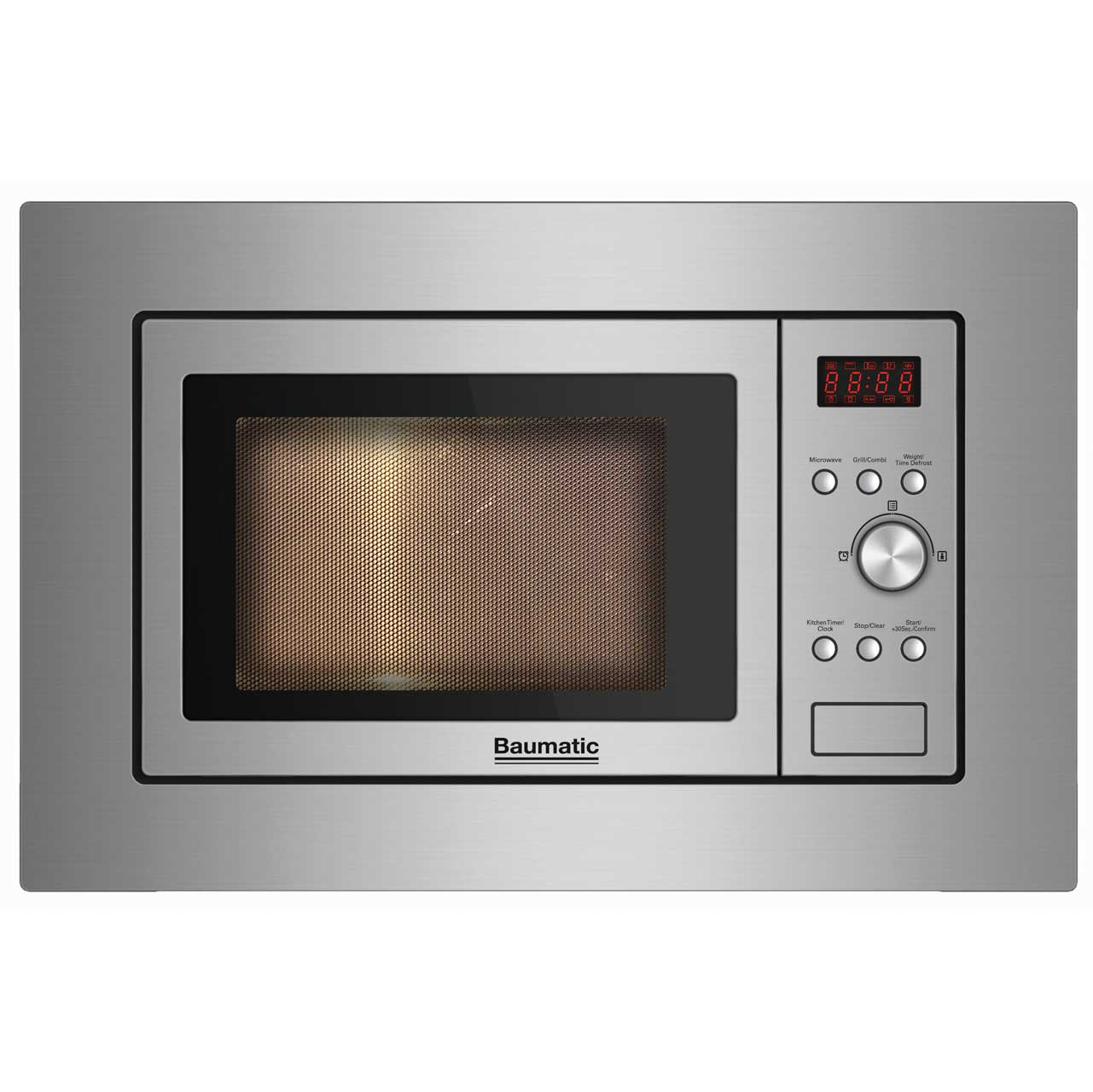 Baumatic BMIG3825 Integrated Microwave Oven in Stainless Steel