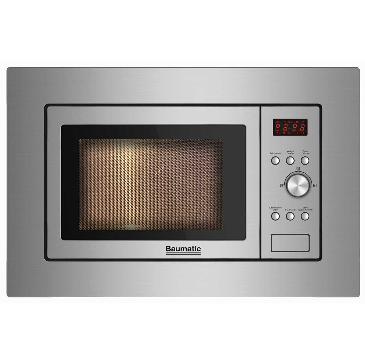 Baumatic BMIS3820 Integrated Microwave Oven in Stainless Steel