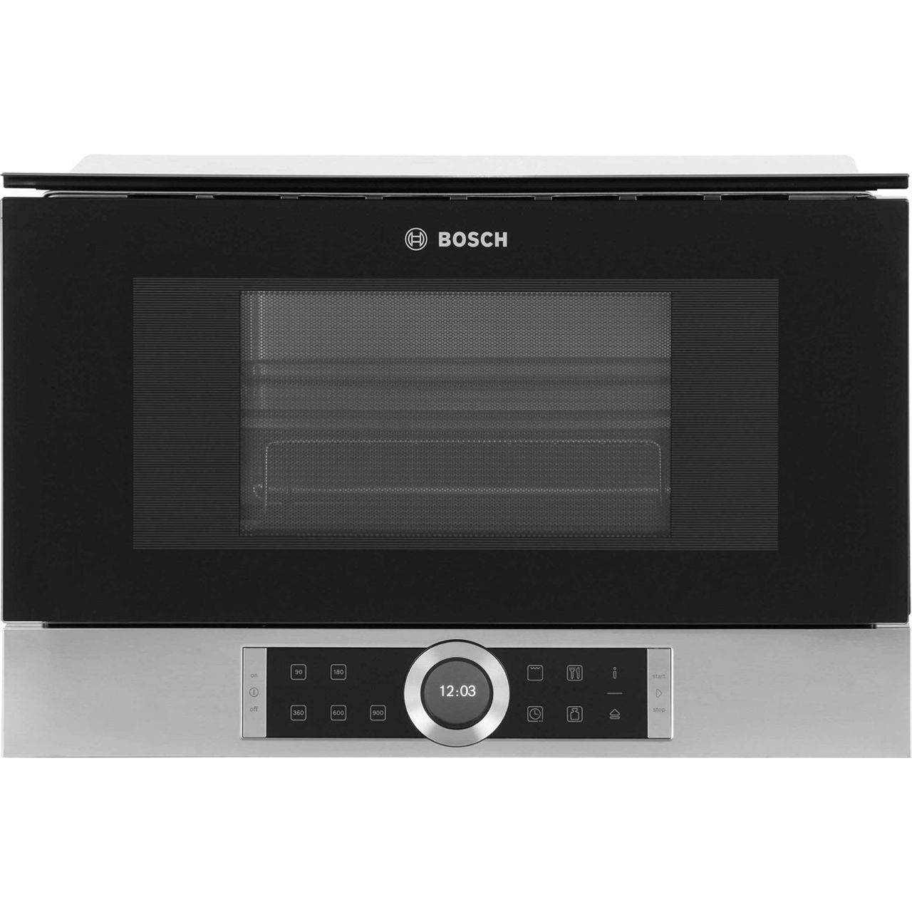 Bosch Serie 8 BEL634GS1B Integrated Microwave Oven in Brushed Steel