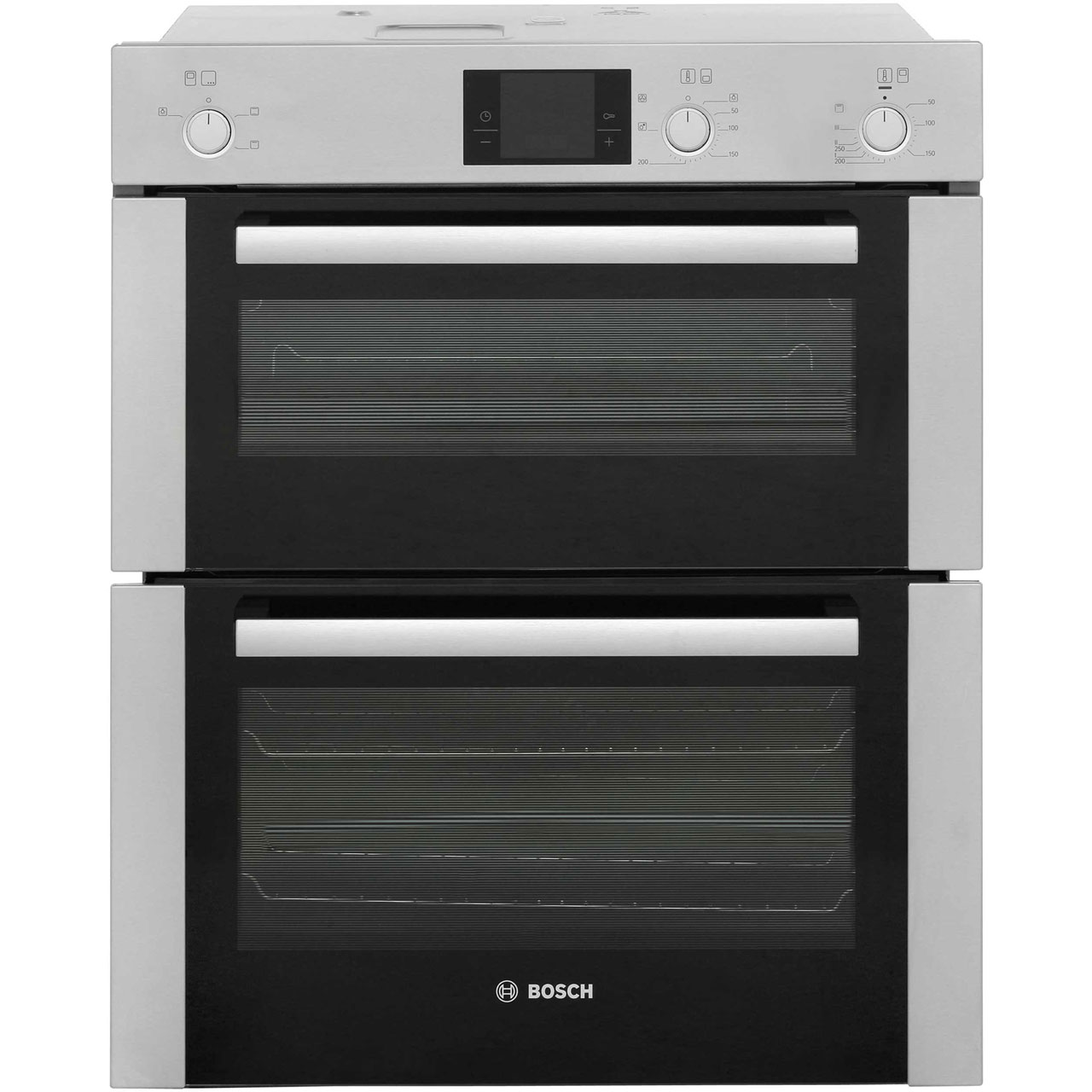 Bosch Serie 4 HBN13B251B Built Under Double Oven in Brushed Steel