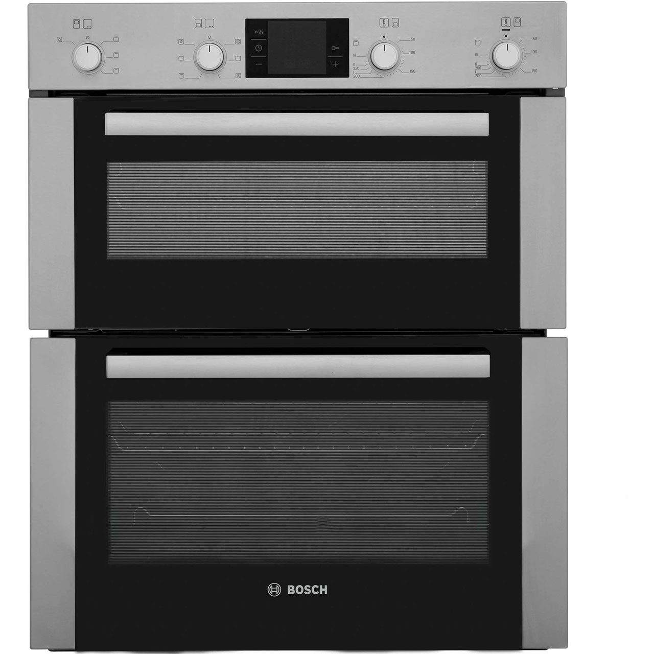 Bosch Serie 4 HBN43B250B Built Under Double Oven in Brushed Steel