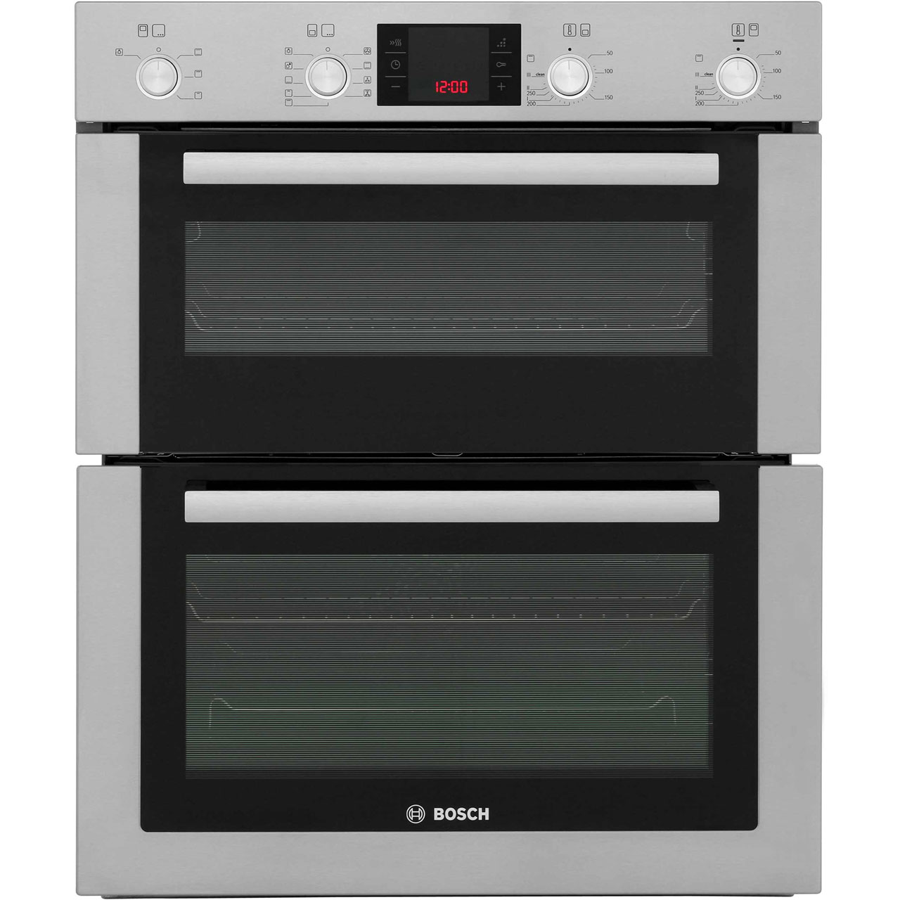 Bosch Serie 6 HBN53R550B Built Under Double Oven in Brushed Steel