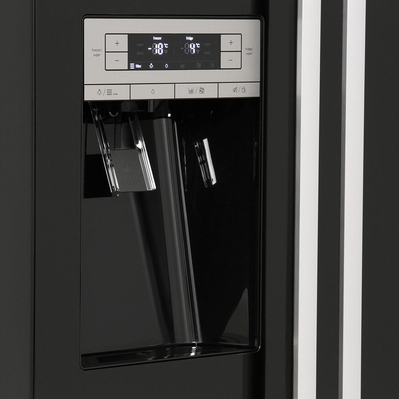 Bosch Serie 6 Kad90vb20g American Fridge Freezer Black