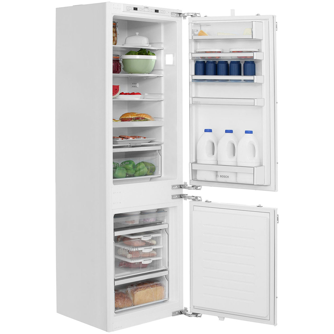 Bosch Serie 6 KIS86AF30G Integrated 60/40 Fridge Freezer with Fixed Door  Fixing Kit - White - A++ Rated