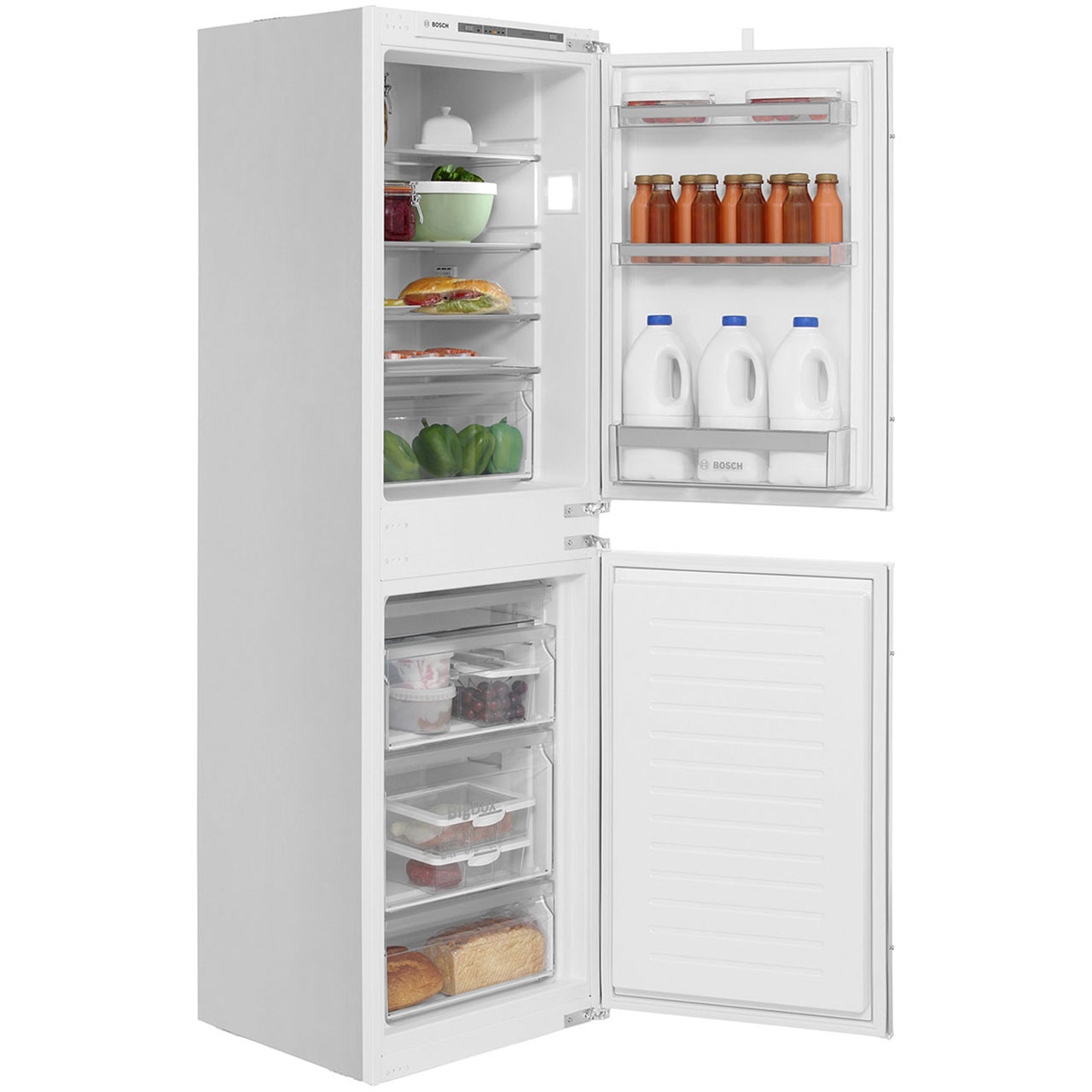 Delicieux Bosch Serie 4 KIV85VS30G Integrated 50/50 Fridge Freezer With Sliding Door  Fixing Kit   White   A++ Rated