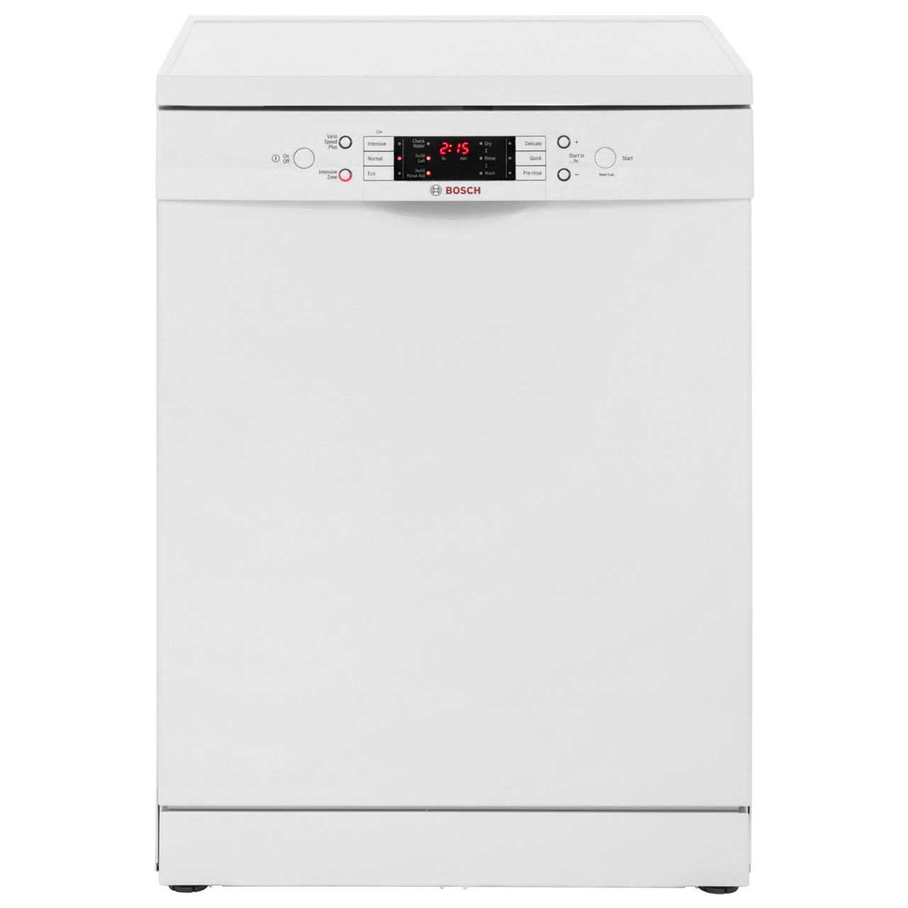 bosch serie 6 sms63m22gb standard dishwasher white 98332. Black Bedroom Furniture Sets. Home Design Ideas