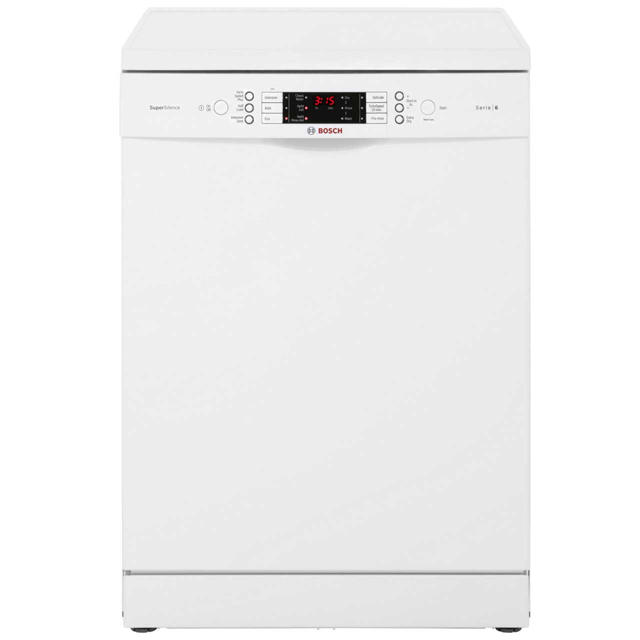 Bosch Serie 6 SMS69M22GB Free Standing Dishwasher in White