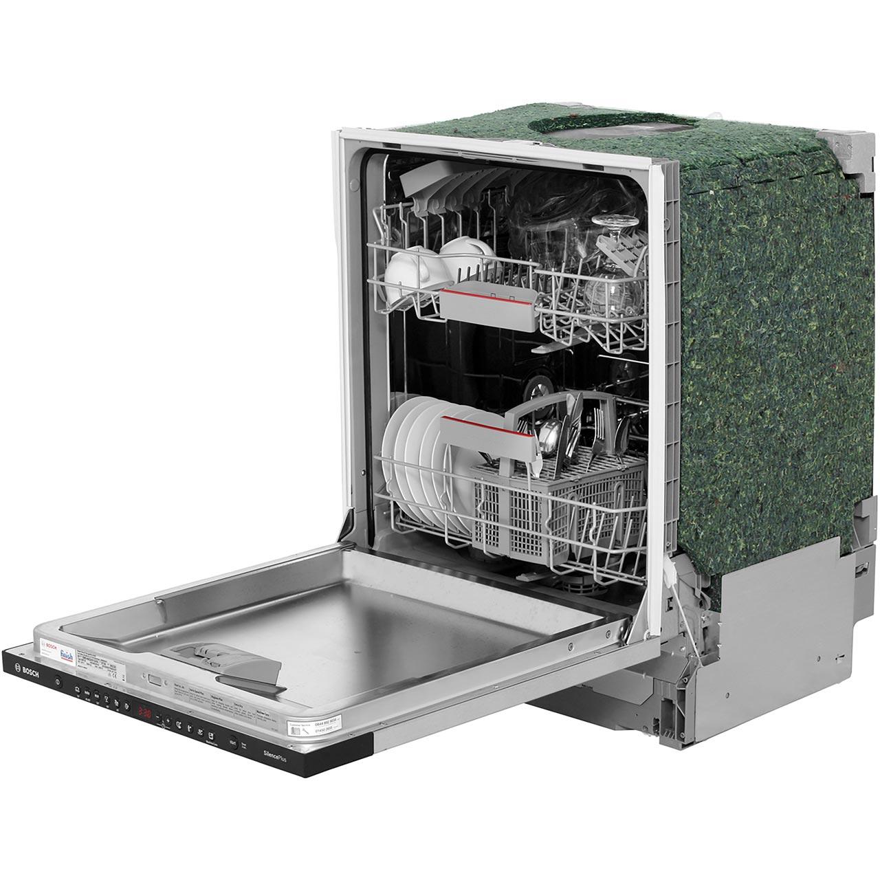 Bosch Serie 4 Smv46gx01g Built In Standard Dishwasher Black