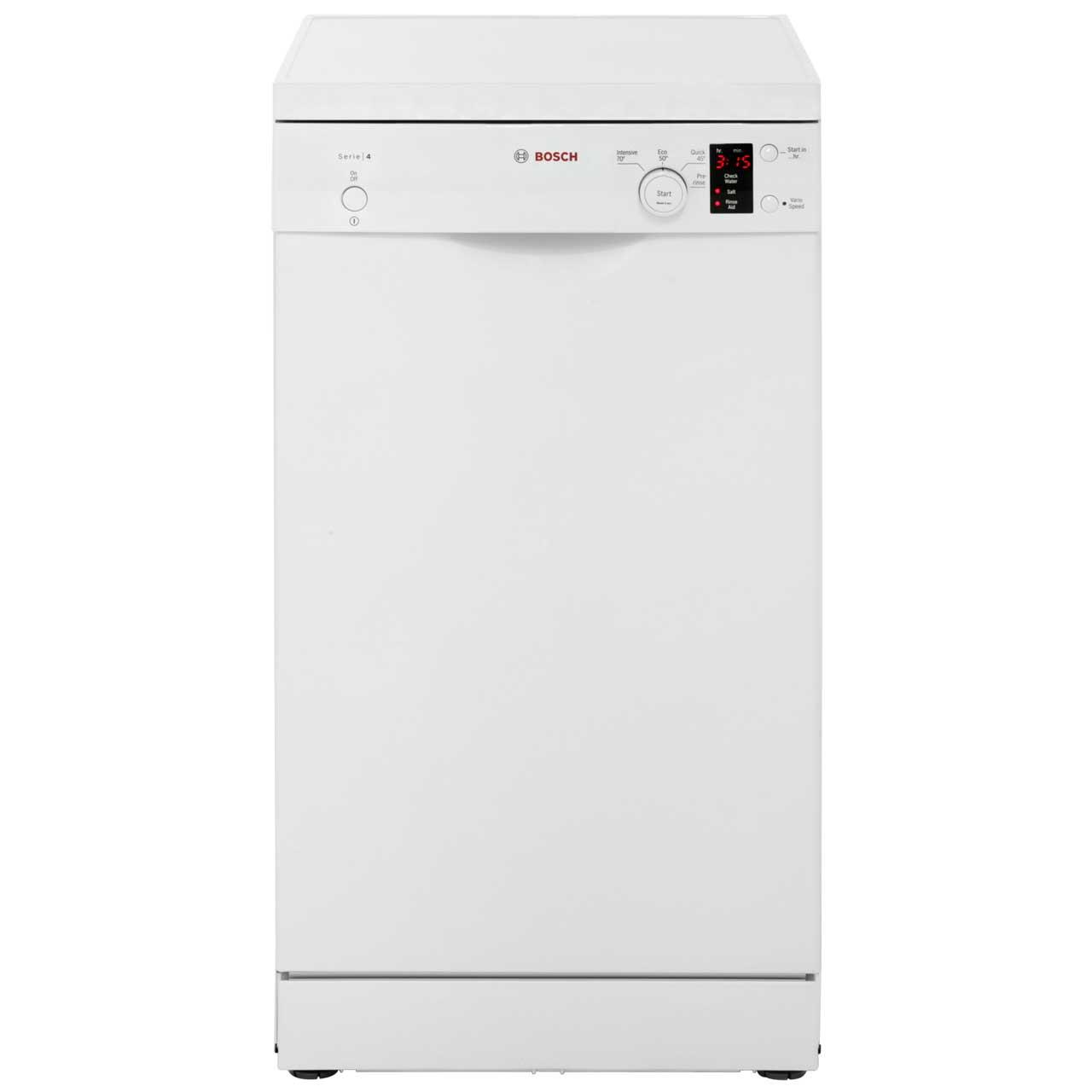 Bosch Serie 4 SPS40E12GB Free Standing Slimline Dishwasher in White