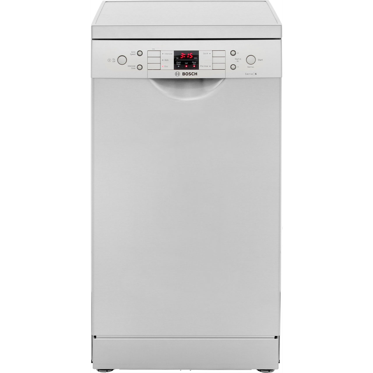 Bosch Serie 6 SPS53M08GB Free Standing Slimline Dishwasher in Silver