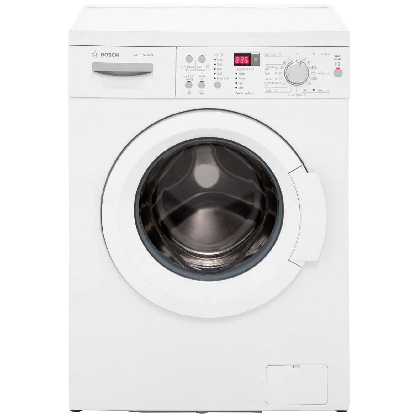 Bosch Serie 6 WAQ283S1GB Free Standing Washing Machine in White