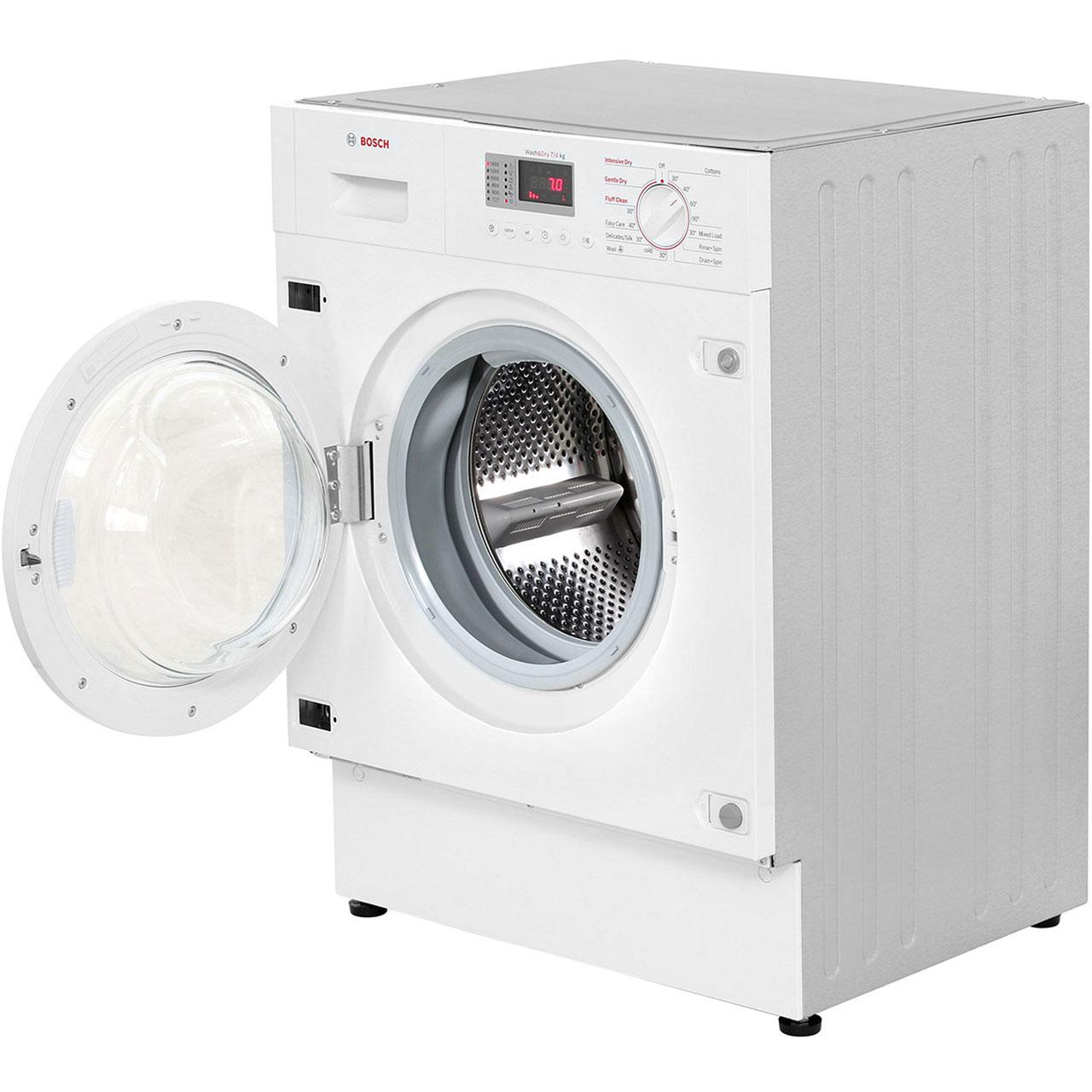 bosch wkd28351gb serie 4 built in 7kg washer dryer white. Black Bedroom Furniture Sets. Home Design Ideas